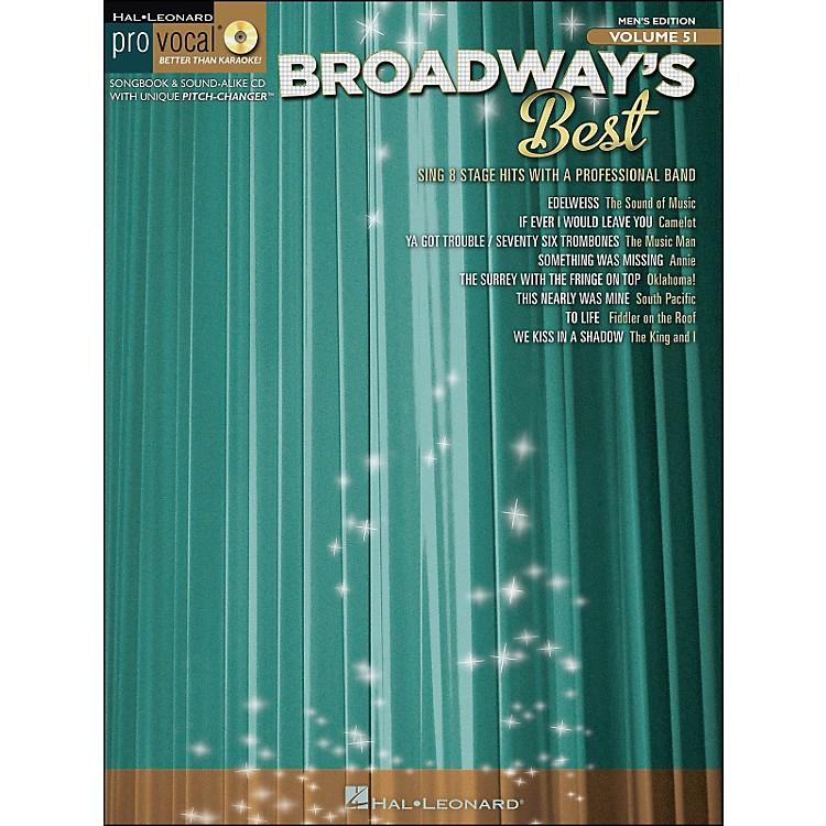 Hal LeonardBroadway's Best Pro Vocal Songbook & CD for Male Singers Volume 51