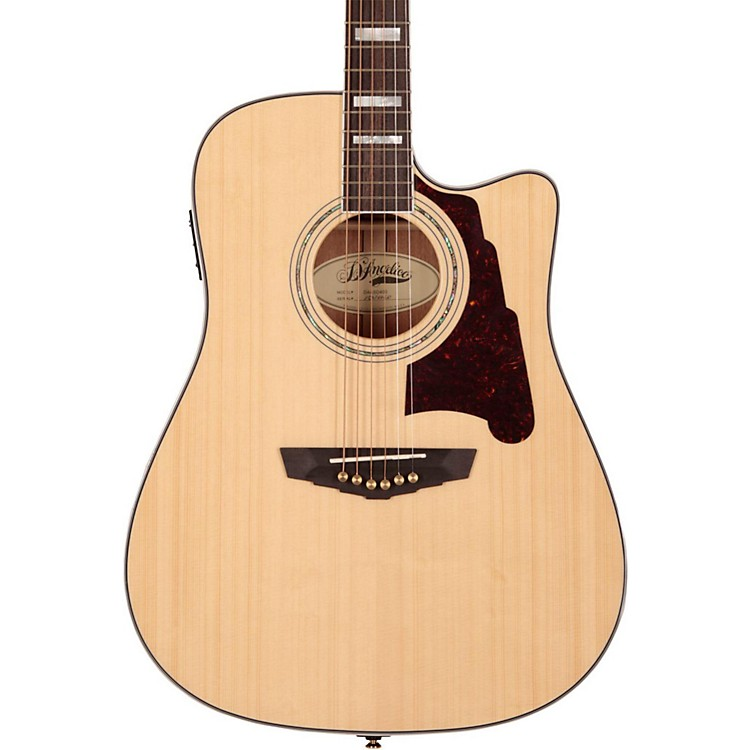 D'AngelicoBrooklyn Dreadnought Cutaway Acoustic-Electric GuitarNatural