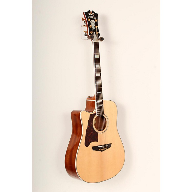 D'Angelico Brooklyn Dreadnought Left-Handed Cutaway Acoustic-Electric Guitar Natural 888365779805