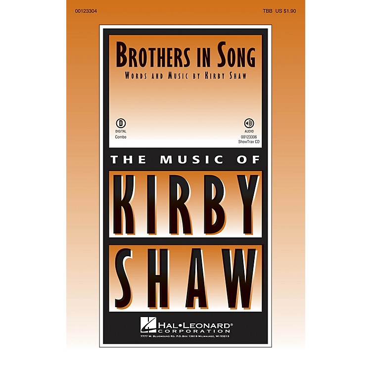 Hal LeonardBrothers In Song ShowTrax CD Composed by Kirby Shaw