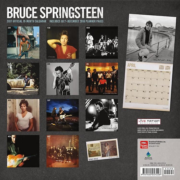Browntrout PublishingBruce Springsteen 2017 Live Nation Calendar