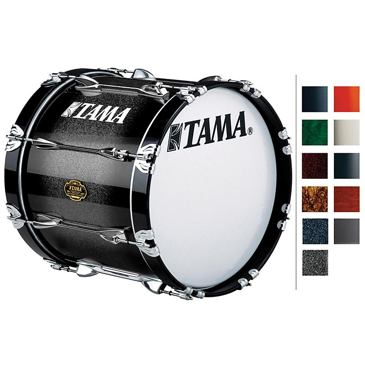 Tama MarchingBubinga/ Birch Bass DrumDeep Green Fade14x14