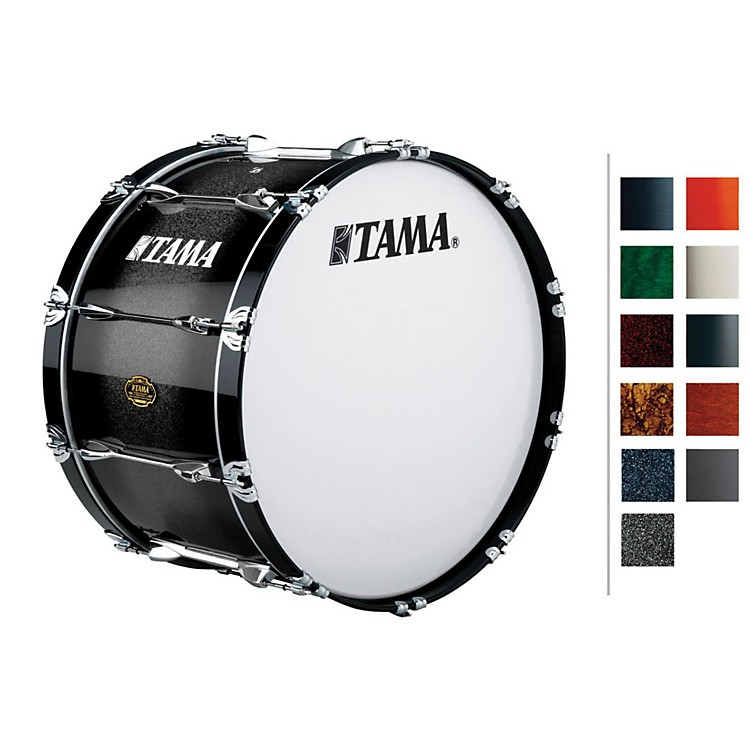 Tama Marching Bubinga/ Birch Bass Drum Red Sparkle Fade 14x24