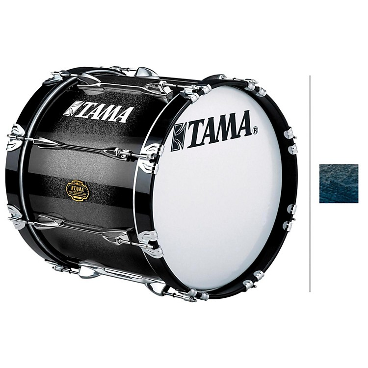 Tama Marching Bubinga/ Birch Bass Drum Smoky Indigo Fade 14x28