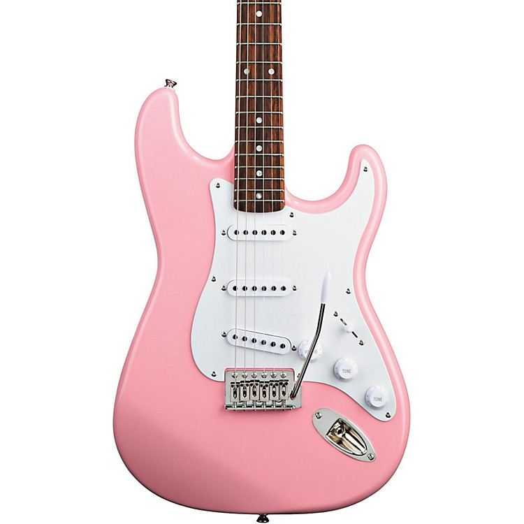 Squier Bullet Strat with Tremolo Pink