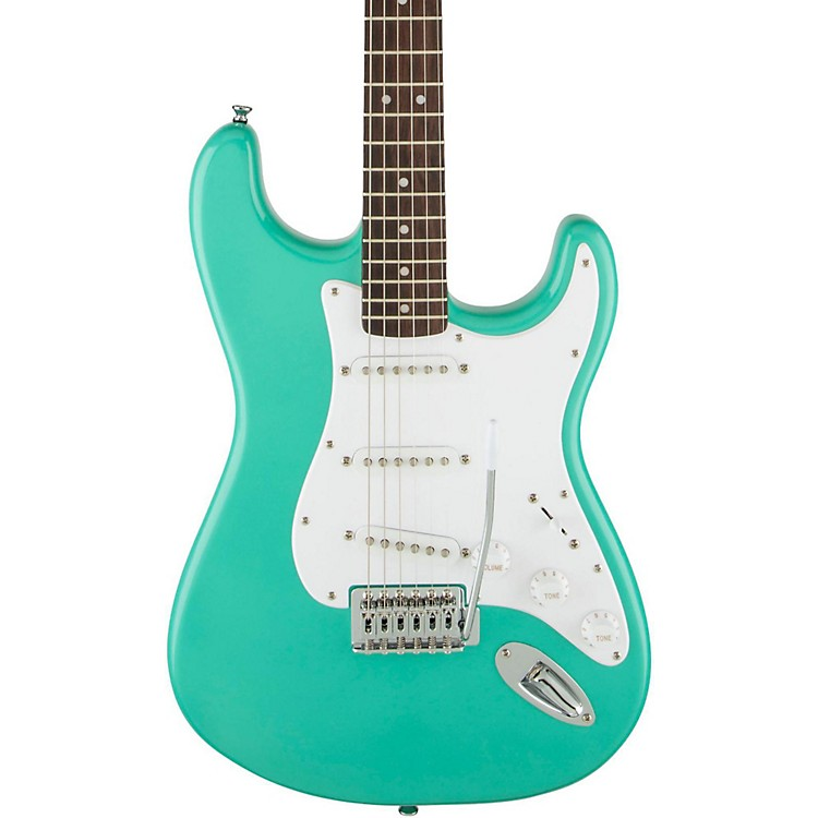 SquierBullet Stratocaster SSS Electric Guitar with TremoloSea Foam Green