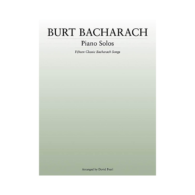 Music Sales Burt Bacharach - Piano Solos Music Sales America Series Softcover