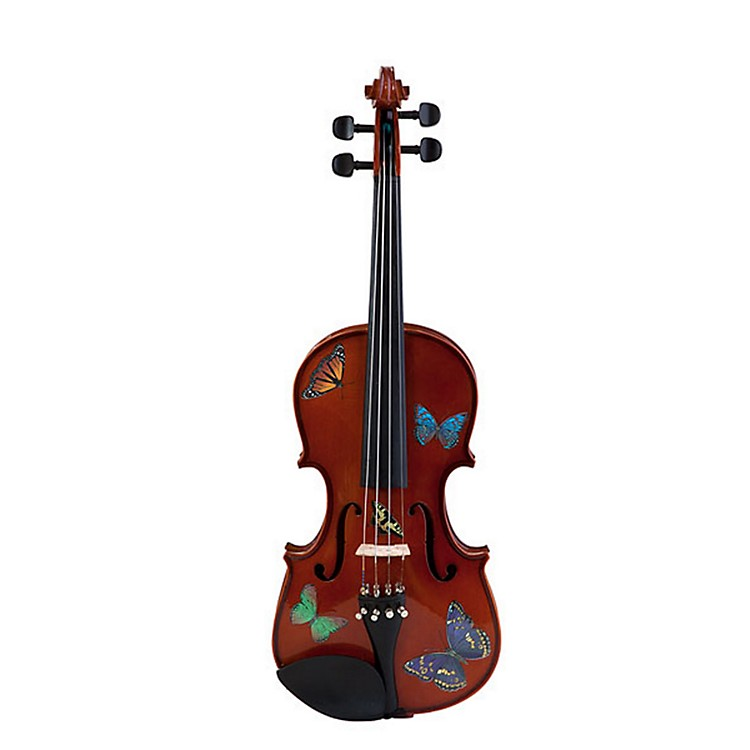 Rozanna's Violins Butterfly Dream Series Violin Outfit 1/2 Size 190839740250