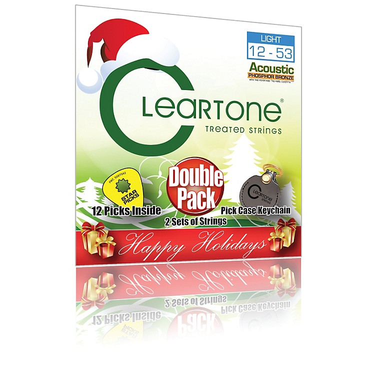 CleartoneBuy 1, Get 1 Free - Light Acoustic Guitar Strings - Holiday Pack