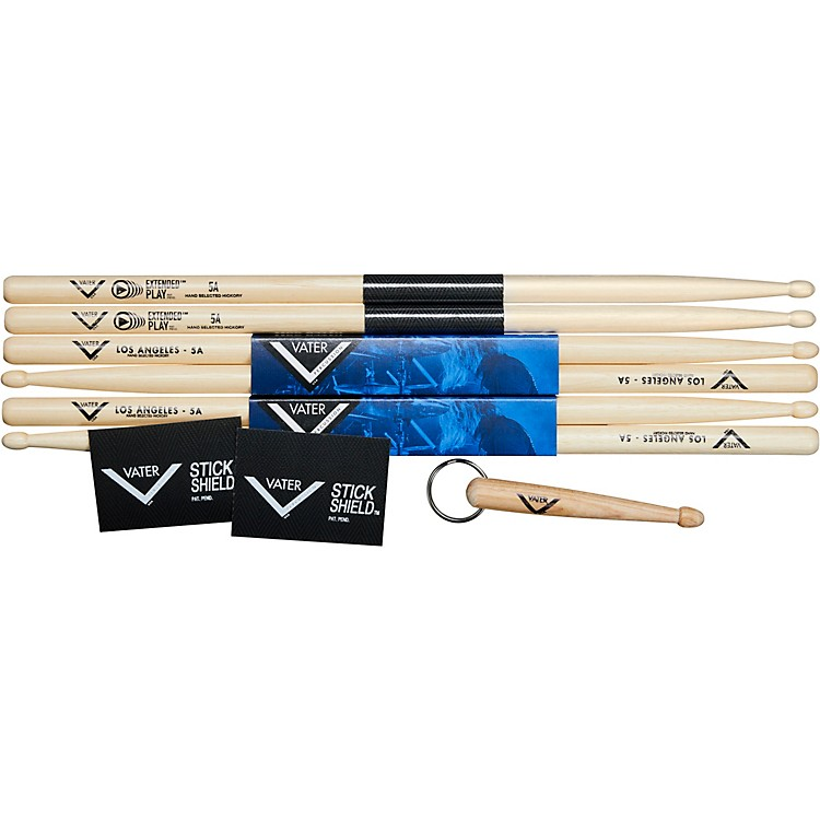 Vater Buy 2 pair 5A Wood and 1 Pair Extended Play 5A wood, get 1 pair Stick Shield and 1 Vater Key Chain