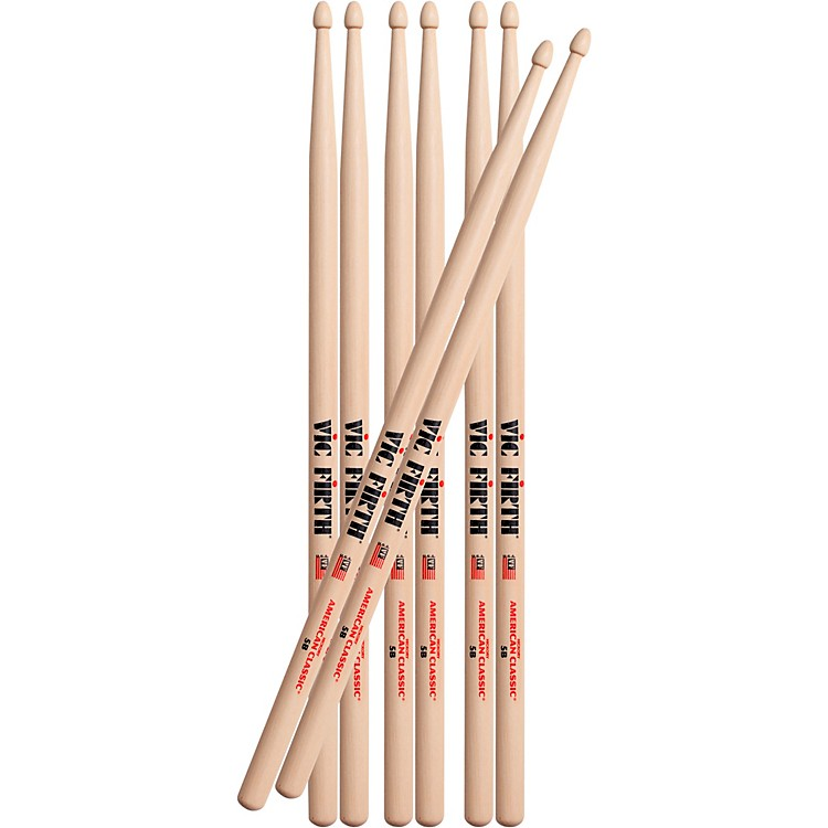 Vic FirthBuy 3 Pair of 5B Sticks, Get 1 Pair Free