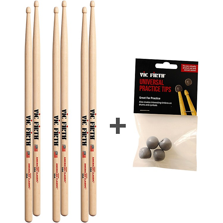 Vic Firth Buy 3 pairs of Vic Firth 55A and Receive a Free Pack of Universal Practice Tips