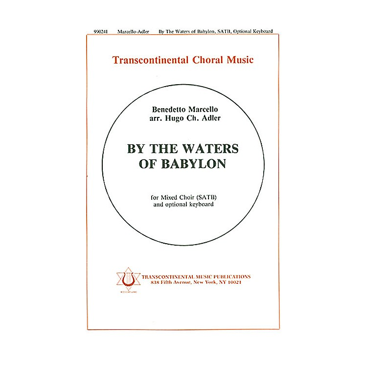 Transcontinental MusicBy The Waters Of Babylon SATB arranged by Hugo Adler