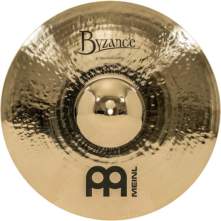 Meinl Byzance Brilliant Heavy Hammered Ride Cymbal 22 in.
