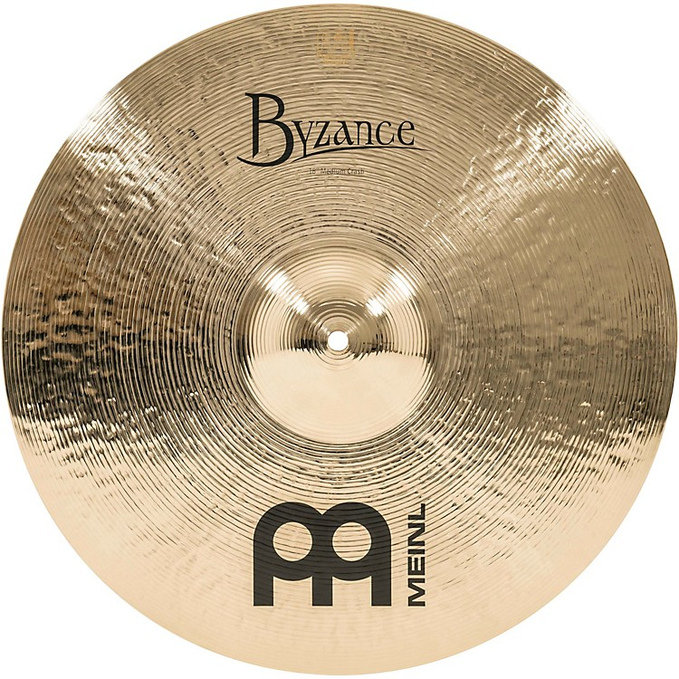 Meinl Byzance Brilliant Medium Crash Cymbal 16 in.