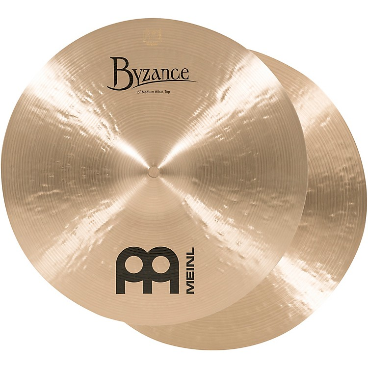 Meinl Byzance Medium Hi-Hat Cymbals 15 in.