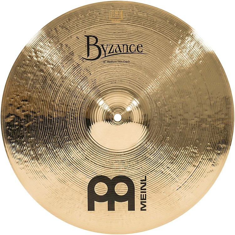 Meinl Byzance Medium Thin Crash Brilliant Cymbal 16 in.