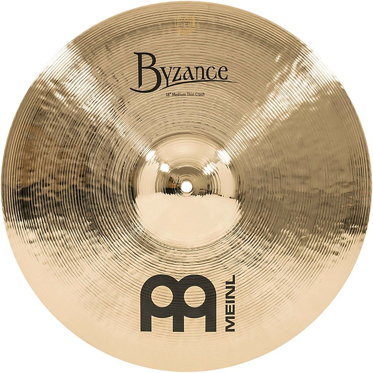 Meinl Byzance Medium Thin Crash Brilliant Cymbal 18 in.