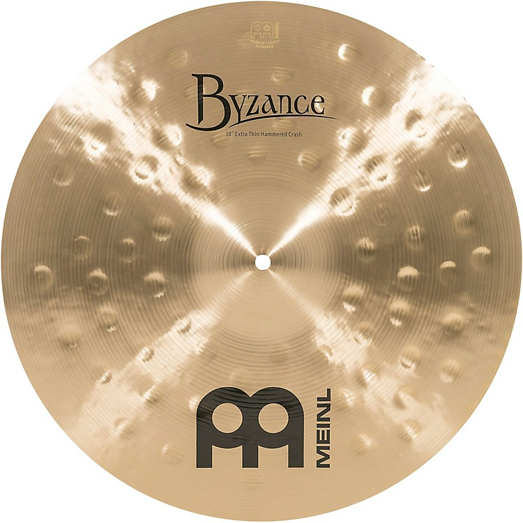 Meinl Byzance Traditional Extra Thin Hammered Crash Cymbal 18 in.