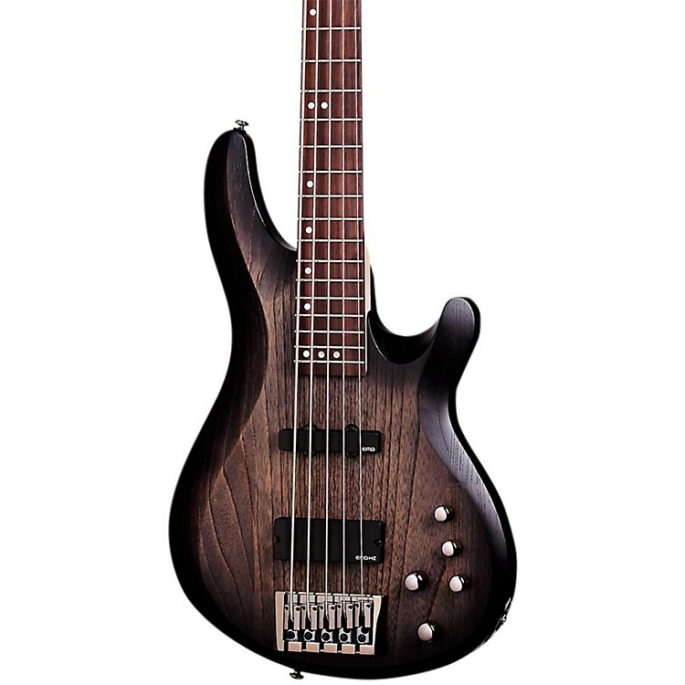 Schecter Guitar ResearchC-5 Custom 5-String Electric Bass GuitarTransparent Black Stain