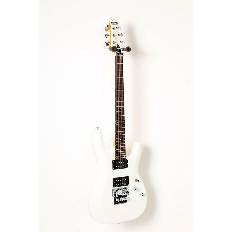 Schecter Guitar Research C-6 Deluxe with Floyd Rose Trem Electric Guitar Satin White 888365838595