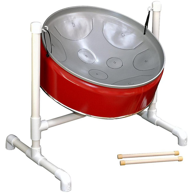 Fancy Pans C Pentatonic Mini Pan - 9 Notes Red/Silver 888365716848