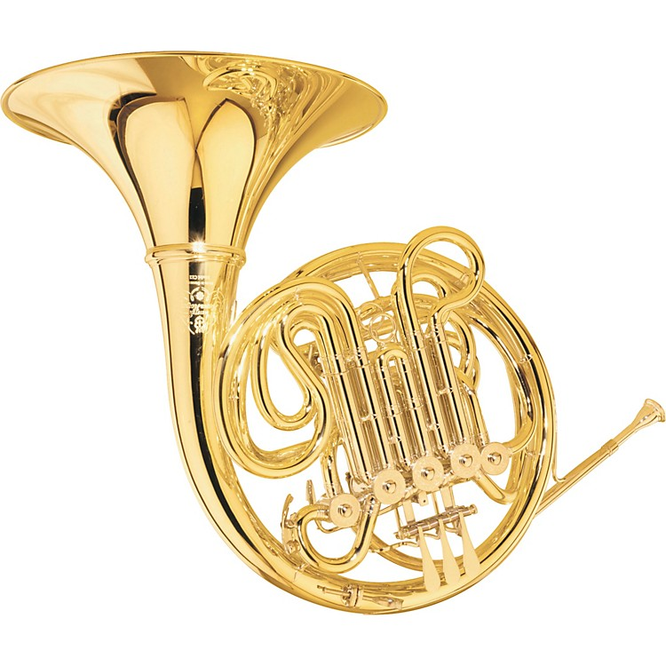 Hans Hoyer C12-L Double Horn Yellow Brass Detachable Bell