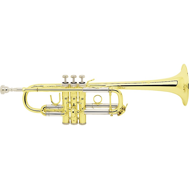 Bach C180 Stradivarius Series Professional C Trumpet C180SL Silver L Bore 239 Bell Rounded Main Tuning Slide