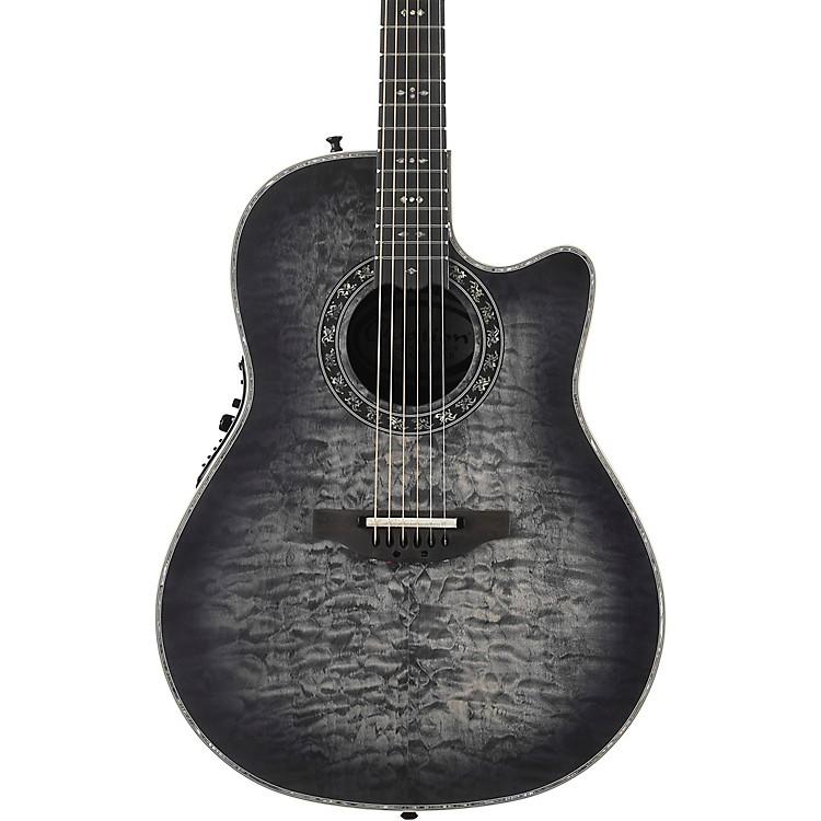 OvationC2079AXP-5S Exotic Wood Legend Plus Quilted Maple Acoustic-Electric GuitarBlack Burst
