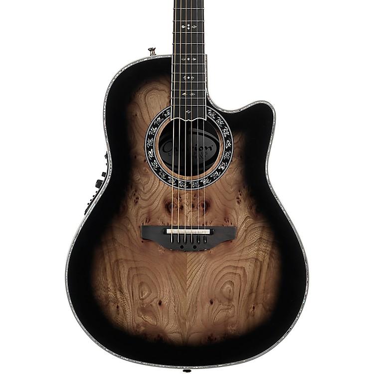 OvationC2079AXP Exotic Wood Legend Plus Elm Burl Acoustic-Electric GuitarBlack Burst