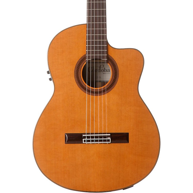 Cordoba C7-CE CD Acoustic-Electric Nylon String Classical Guitar Natural 888365895376
