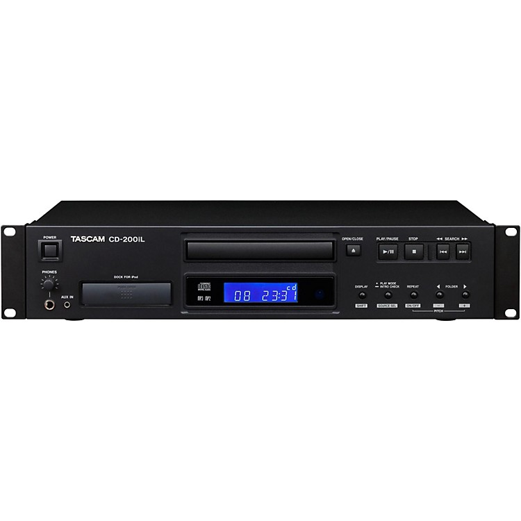 TascamCD-200iL Professional CD Player with iPhone Dock