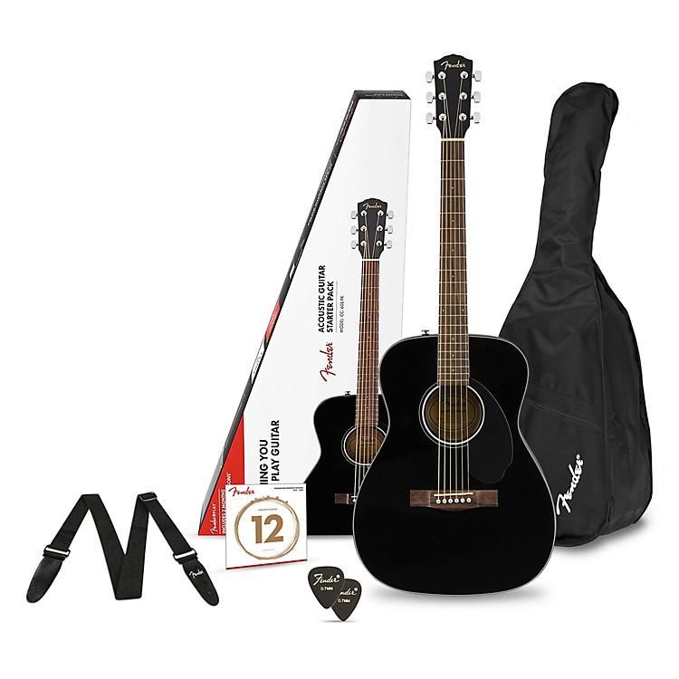FenderCD-60S Concert Acoustic Guitar PackBlack