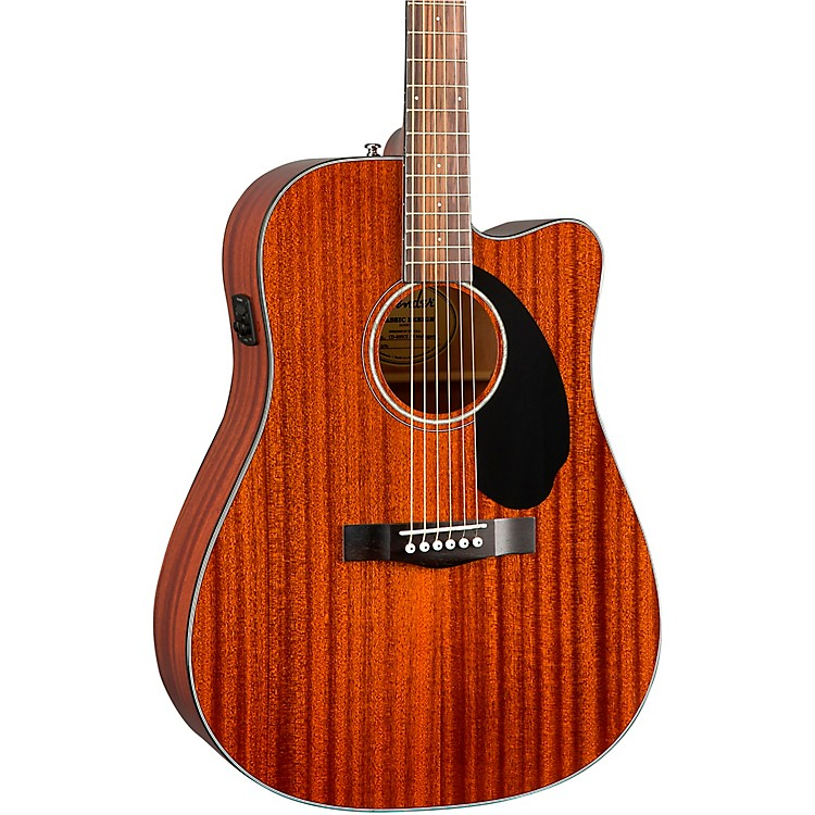FenderCD-60SCE Dreadnought All-Mahogany Acoustic-Electric GuitarNatural
