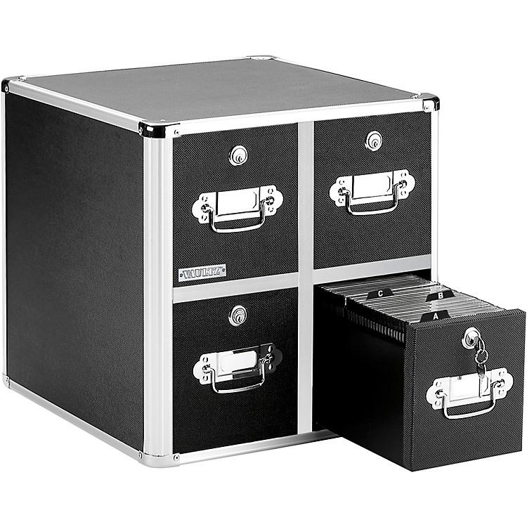 VaultzCD Cabinet - 4 DrawerBlack