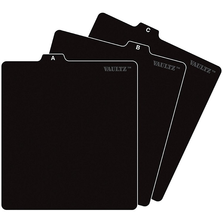 Vaultz CD File Folder Guides Black
