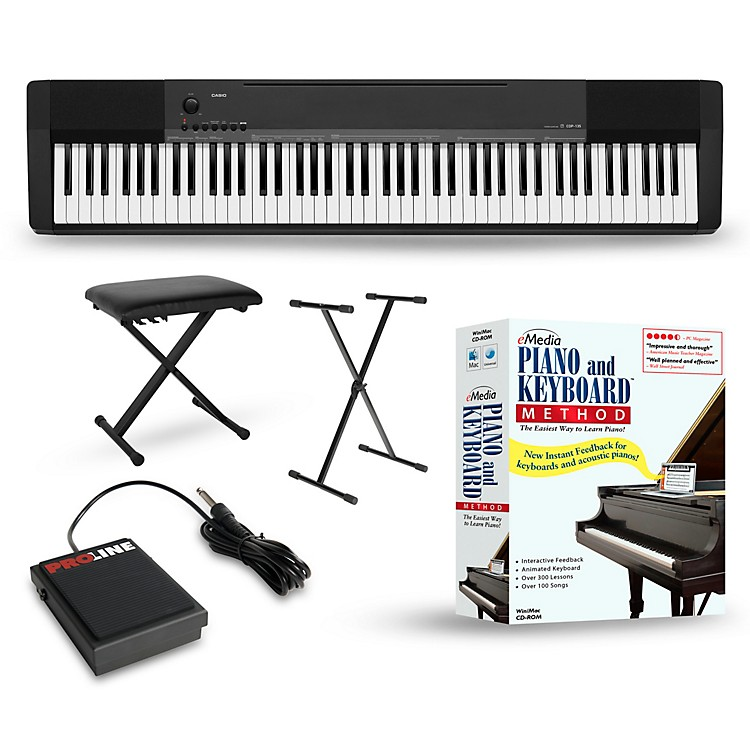 casio cdp 135 digital piano package music123. Black Bedroom Furniture Sets. Home Design Ideas