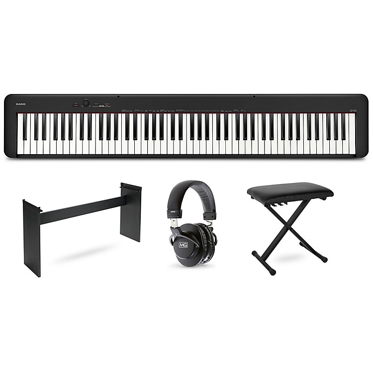 Casio CDP-S100 keyboard with CS46 stand, bench and headphones Black