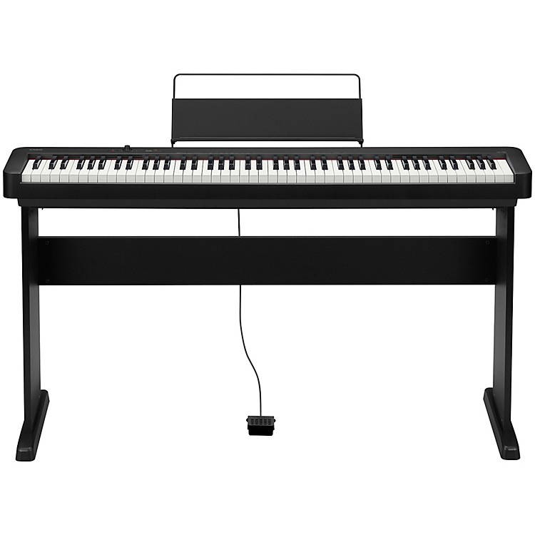 Casio CDP-S100CS Digital Piano with Wooden Stand Black