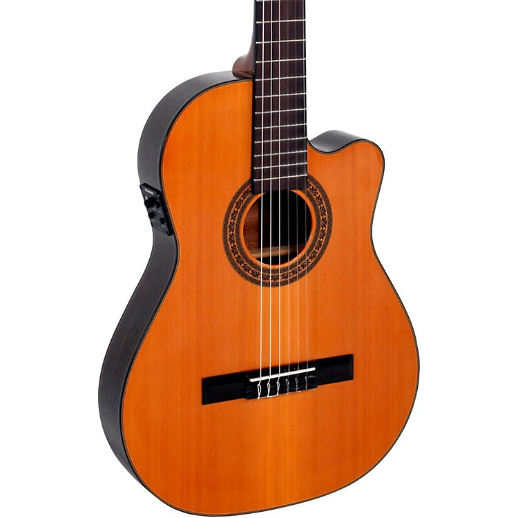 Giannini CDR Pro Thin CEQ Nylon String Acoustic-Electric Guitar Natural
