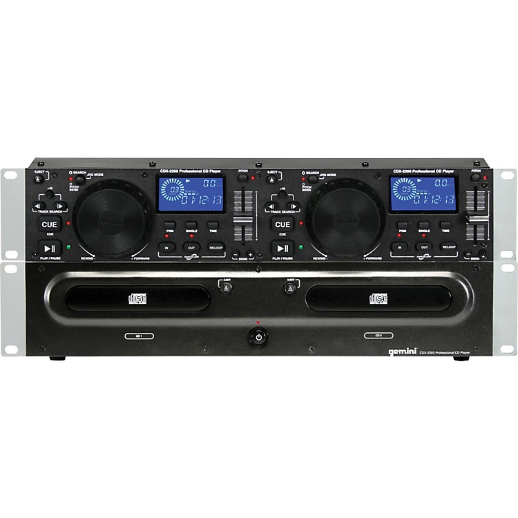 GeminiCDX-2200 2U Dual CD Player
