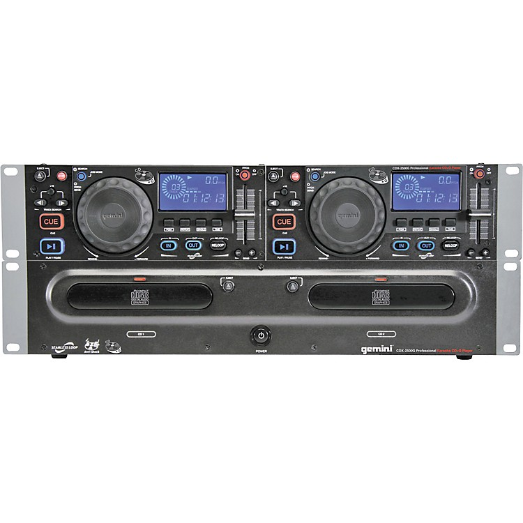 GeminiCDX-2500G Dual CD Player with Graphics Output886830013744