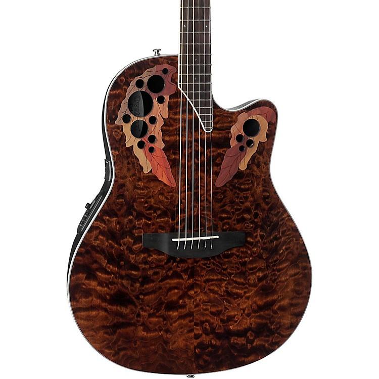 OvationCE44P-TGE Celebrity Elite Acoustic-Electric GuitarTransparent Tiger Eye