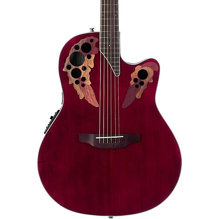 OvationCE48 Celebrity Elite Acoustic-Electric GuitarTransparent Ruby Red