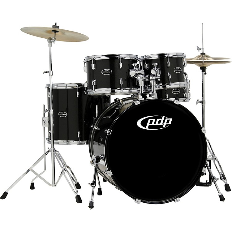 PDP by DWCENTERstage 5-Piece Drum Set with Hardware and CymbalsOnyx