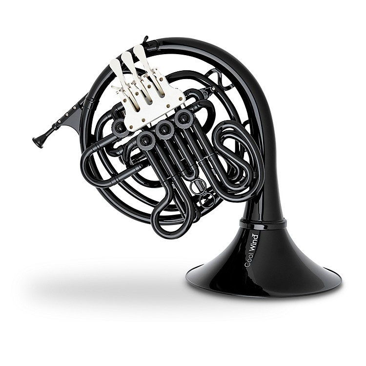 Cool Wind CFH-200BK Series Plastic Double French Horn Black Fixed Bell