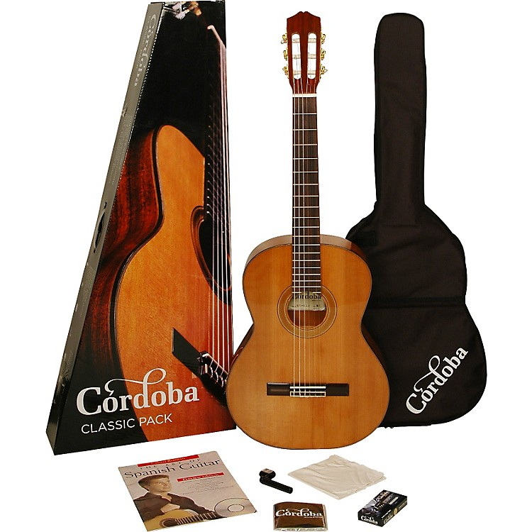 CordobaCP110 Acoustic Nylon String Classical Guitar Pack