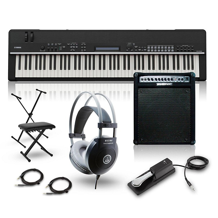 YamahaCP4 Stage 88-Key Stage Piano with Keyboard Amplifier, Stand, Headphones, Bench, and Sustain Pedal