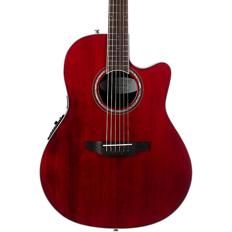 OvationCS28 Celebrity Standard Acoustic-Electric GuitarTransparent Ruby Red