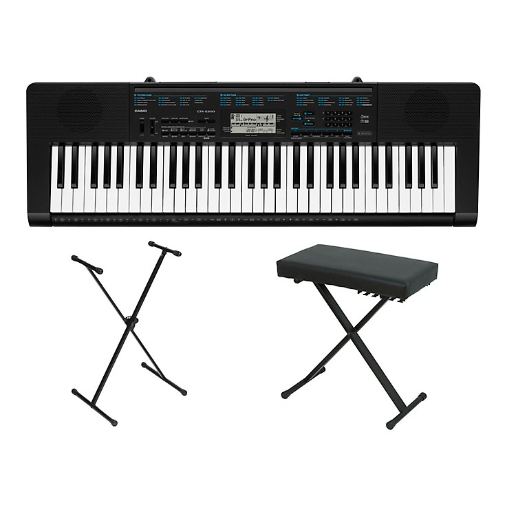 Casio ctk 2300 61 key portable keyboard w stand and bench Keyboard stand and bench